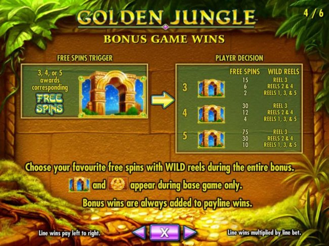 Three or more golden archways triggers free spins