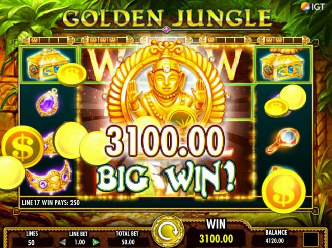 BGO Vegas featuring the Video Slots Golden Jungle with a maximum payout of $250,000