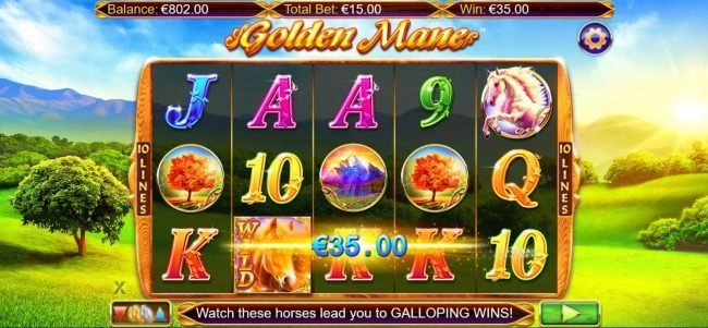 Play slots at Campeon: Campeon featuring the Video Slots Golden Mane with a maximum payout of $15,000