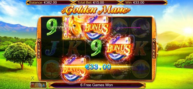 Vbet Casino featuring the Video Slots Golden Mane with a maximum payout of $15,000