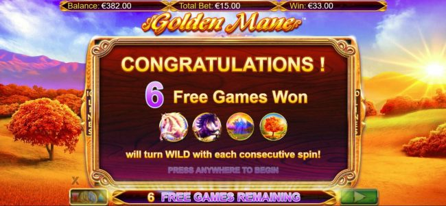 Boo Casino featuring the Video Slots Golden Mane with a maximum payout of $15,000