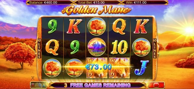Tivoli featuring the Video Slots Golden Mane with a maximum payout of $15,000