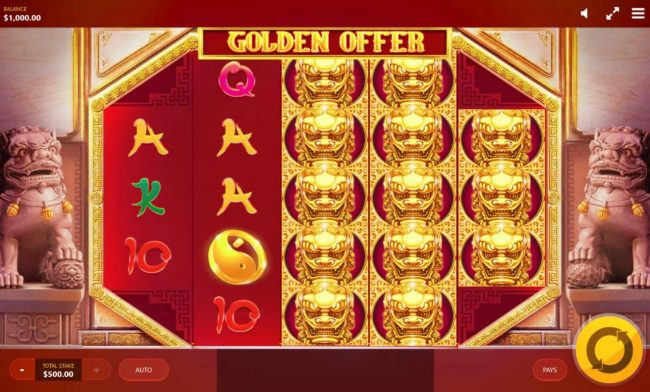 MANSION featuring the Video Slots Golden Offer with a maximum payout of $10,000