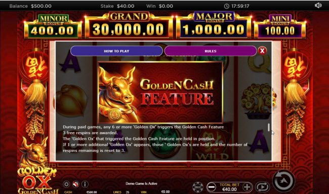 Golden Ox :: Bonus Game Rules