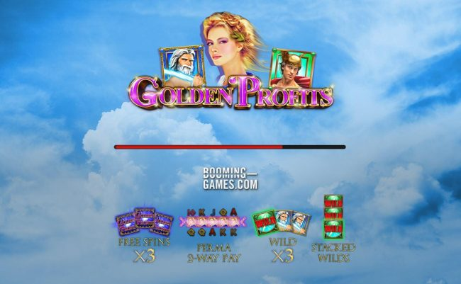 Golden Profits :: Game features include: Free Spins X3 multiplier, Perma 2-Way Pay, Wild X3 and Stacked Wilds