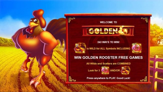 Play slots at Fun Casino: Fun Casino featuring the Video Slots Golden Rooster with a maximum payout of $250,000
