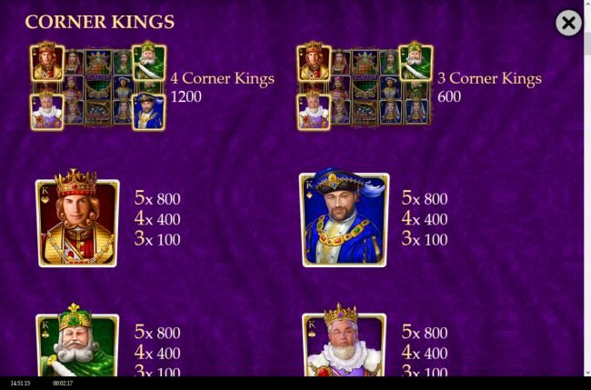 Wild Jackpots featuring the Video Slots Golden Royals with a maximum payout of $100,000