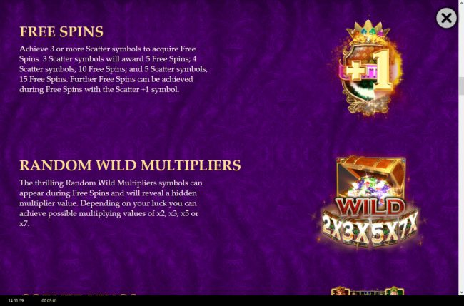 Wild Tornado featuring the Video Slots Golden Royals with a maximum payout of $100,000