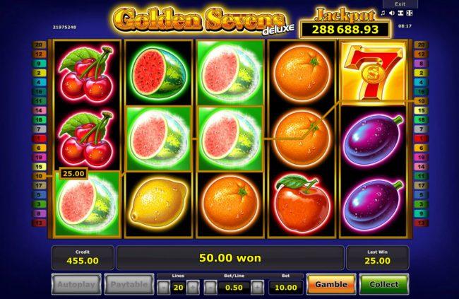 Golden Sevens Deluxe :: Multiple winning paylines