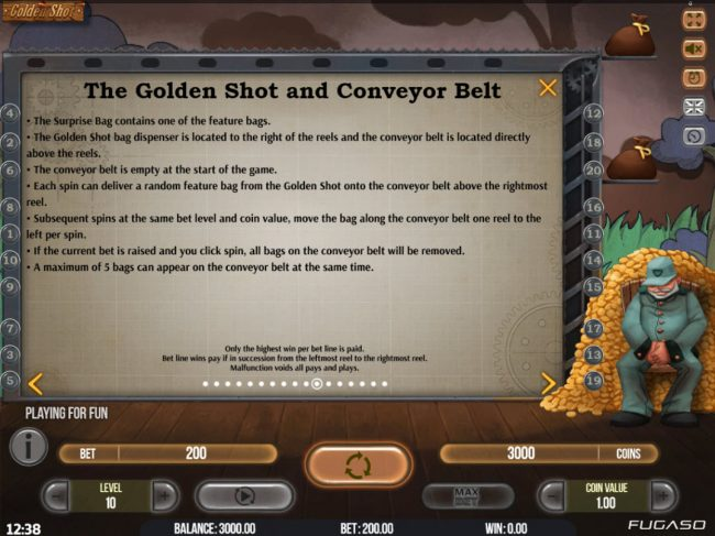 All Wins Casino featuring the Video Slots Golden Shot with a maximum payout of $94,750
