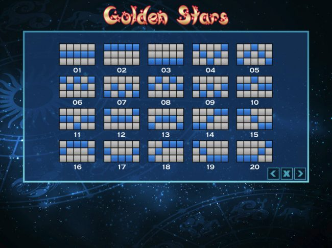 Venetian featuring the Video Slots Golden Stars with a maximum payout of $24,000