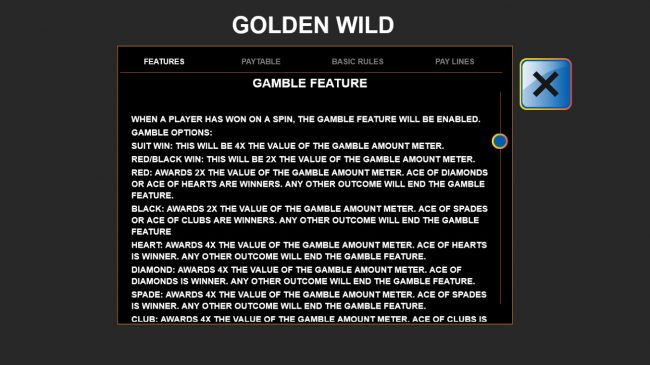 Casino Superlines featuring the Video Slots Golden Wild with a maximum payout of $90,000