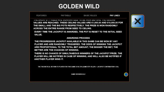 Dreamy 7 featuring the Video Slots Golden Wild with a maximum payout of $90,000