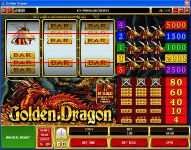 Golden Reef featuring the Video Slots Golden Dragon with a maximum payout of $25,000