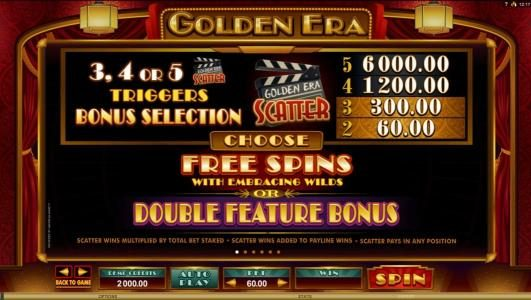 Golden Boys Bet featuring the Video Slots Golden Era with a maximum payout of $106,000