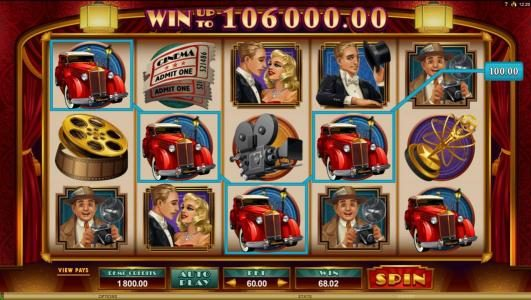 Bulldog777 featuring the Video Slots Golden Era with a maximum payout of $106,000