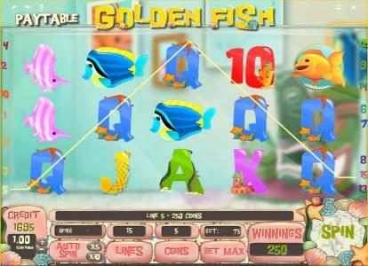 Joker Casino featuring the Video Slots Golden Fish with a maximum payout of $150,000