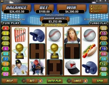 Cafe featuring the Video Slots Golden Glove with a maximum payout of $250,000