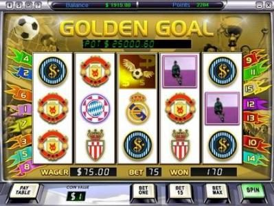 Play slots at Video Poker Classic: Video Poker Classic featuring the Video Slots Golden Goal with a maximum payout of $500,000