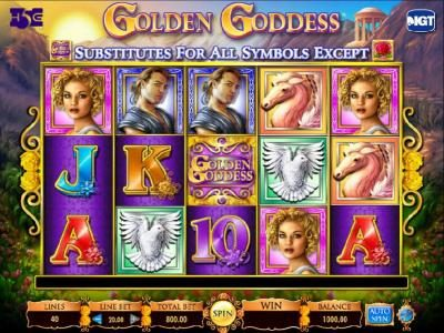 Play slots at Zinger Spins: Zinger Spins featuring the Video Slots Golden Goddess with a maximum payout of $20,000