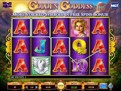 Chomp featuring the Video Slots Golden Goddess with a maximum payout of $20,000