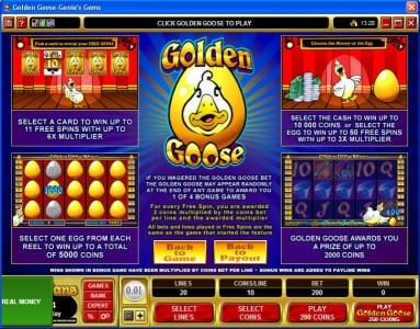 Maple featuring the video-Slots Golden Goose - Genie's Gems with a maximum payout of $16,000