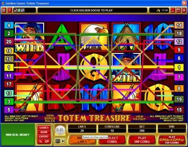 Play slots at Zodiac: Zodiac featuring the Video Slots Golden Goose - Totem Treasure with a maximum payout of $24,000
