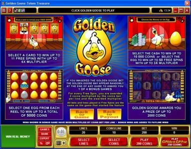 Leo Vegas featuring the Video Slots Golden Goose - Totem Treasure with a maximum payout of $24,000