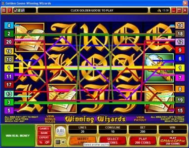 Stan James featuring the Video Slots Golden Goose - Winning Wizards with a maximum payout of $24,000