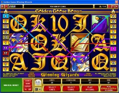 Phoenician featuring the Video Slots Golden Goose - Winning Wizards with a maximum payout of $24,000