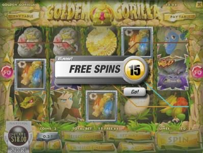 Dendera featuring the Video Slots Golden Gorilla with a maximum payout of $12,500