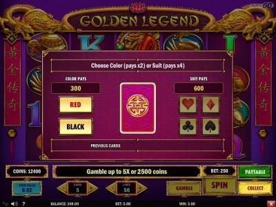 Play slots at Scatters: Scatters featuring the Video Slots Golden Legend with a maximum payout of $2,000,000