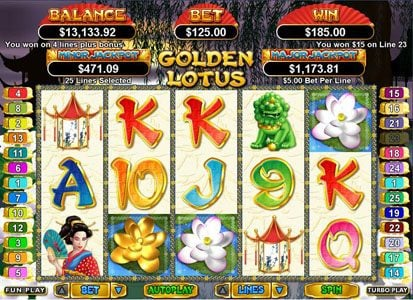 Play slots at Jack Million: Jack Million featuring the Video Slots Golden Lotus with a maximum payout of $250,000