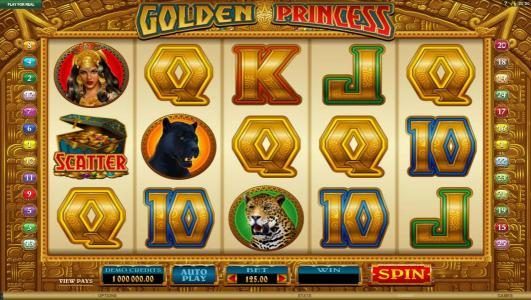 Vegas Country featuring the Video Slots Golden Princess with a maximum payout of $25,000