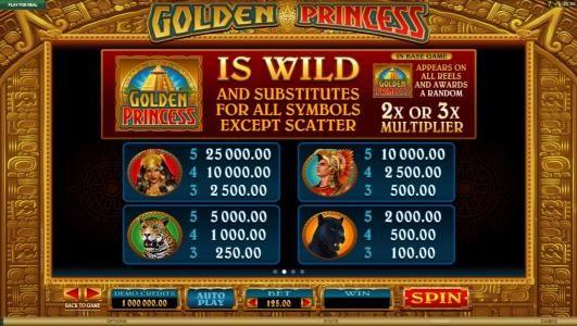 Golden Princess :: High value slot game symbols paytable