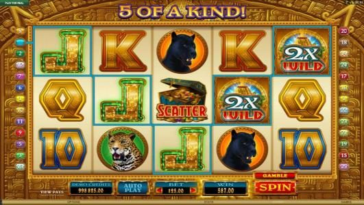 Golden Princess :: multiple winning paylines combine with a 3x wild for a big winning jackpot