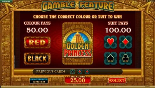Phoenician featuring the Video Slots Golden Princess with a maximum payout of $25,000
