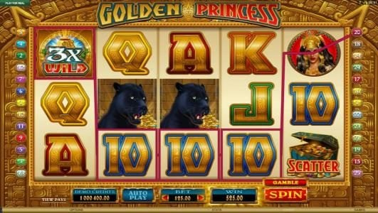 Casumo featuring the Video Slots Golden Princess with a maximum payout of $25,000