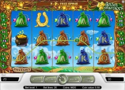 Wintingo featuring the Video Slots Golden Shamrock with a maximum payout of $20,000