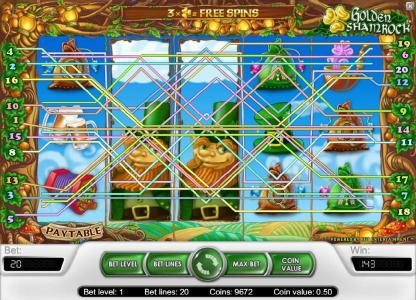 Lord of the Spins featuring the Video Slots Golden Shamrock with a maximum payout of $20,000