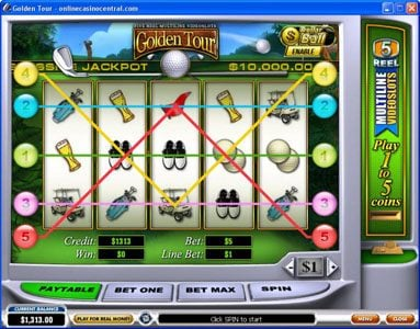 Slots Heaven featuring the Video Slots Golden Tour with a maximum payout of Jackpot