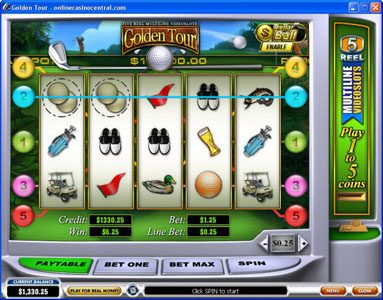 Sky Kings featuring the Video Slots Golden Tour with a maximum payout of Jackpot
