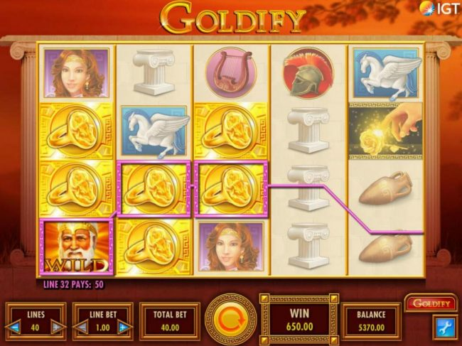 Vegas Baby featuring the Video Slots Goldify with a maximum payout of $250,000