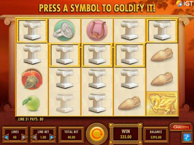 Winstar featuring the Video Slots Goldify with a maximum payout of $250,000