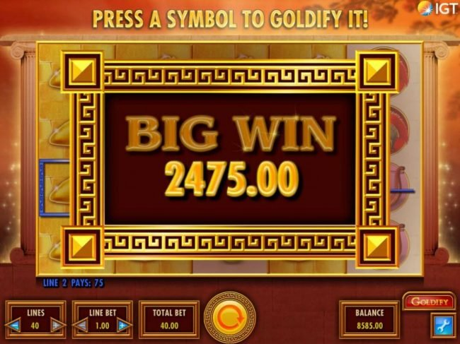Casino Club featuring the Video Slots Goldify with a maximum payout of $250,000