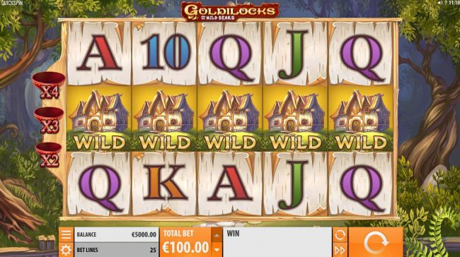 Play slots at 7Bit: 7Bit featuring the Video Slots Goldilocks and the Wild Bears with a maximum payout of $100,000