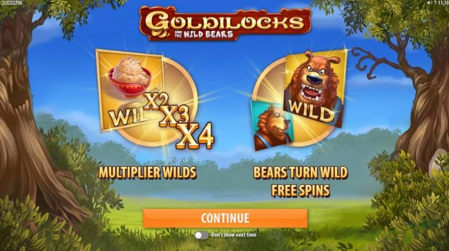 Lucky Dino featuring the Video Slots Goldilocks and the Wild Bears with a maximum payout of $100,000