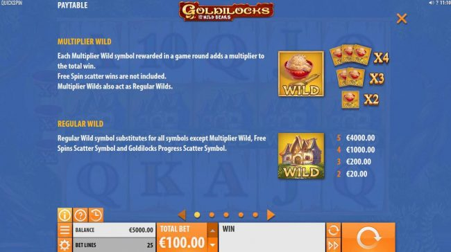 7Bit featuring the Video Slots Goldilocks and the Wild Bears with a maximum payout of $100,000