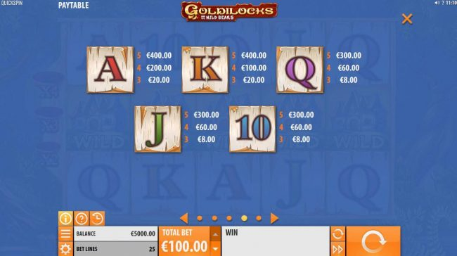 Joy Casino featuring the Video Slots Goldilocks and the Wild Bears with a maximum payout of $100,000