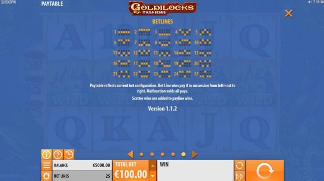 Amsterdam Casino featuring the Video Slots Goldilocks and the Wild Bears with a maximum payout of $100,000
